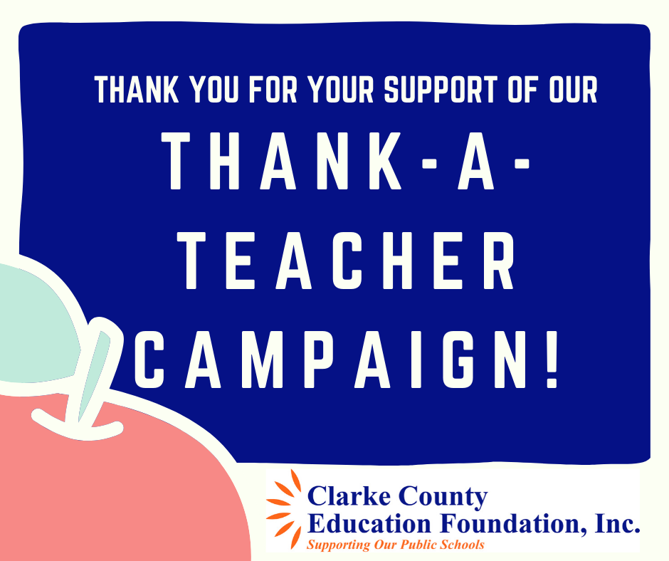 Thank a Teacher campaign flyer
